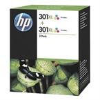 Kartuša HP D8J46AE nr.301XL (barvna), dvojno pakiranje, original