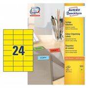 Etikete Zweckform 3451 70 x 37 mm, rumene
