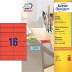 Etikete Zweckform 3452 105 x 37 mm, rdeče
