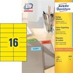 Etikete Zweckform 3455 105 x 37 mm, rumene