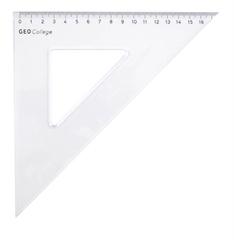Trikotnik 45°, 18 cm