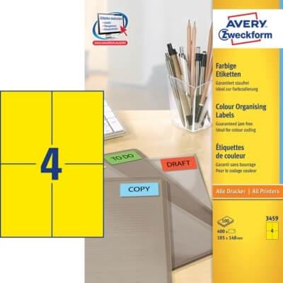 Etikete Zweckform 3459 105 x 148 mm, rumene