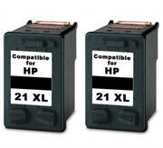 Komplet kartuš za HP C9351CE nr.21XL (črna), dvojno pakiranje, kompatibilen