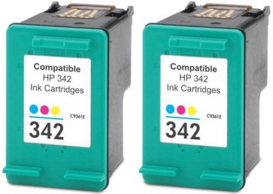 Komplet kartuš za HP C9361EE nr.342 (barvna), dvojno pakiranje, kompatibilen
