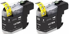 Kartuša za Brother LC123BK (črna), dvojno pakiranje, kompatibilna