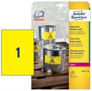 Etikete Zweckform L6111-20 210 x 297 mm, 20 listov, rumena