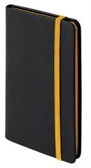 Blok A6 Notebook Clip, črna/rumena