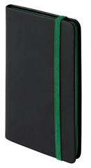 Blok A6 Notebook Clip, črna/zelena
