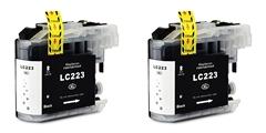 Kartuša za Brother LC223BK (črna), dvojno pakiranje, kompatibilna