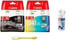 Komplet kartuš Canon PG-540XL + CL-541XL, original + USB svetilka + čistilni robčki