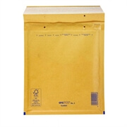 Kuverta A št.1, oblazinjena, 100 x 160 mm, rjava, 200 kosov