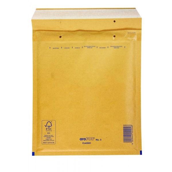 Kuverta B št.2, oblazinjena, 120 x 210 mm, rjava, 200 kosov
