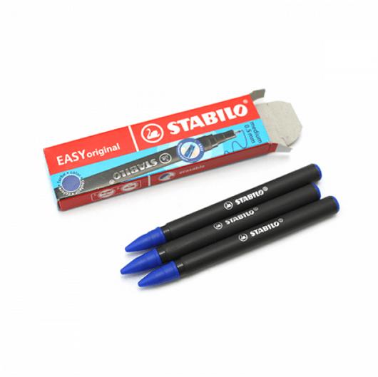 Vložek (polnilo) za nalivna peresa Easy Stabilo 6890 (modra), 3 kosi