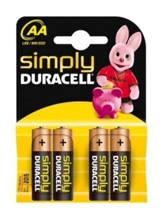 Baterija Duracell AA-LR6, 4 kosi