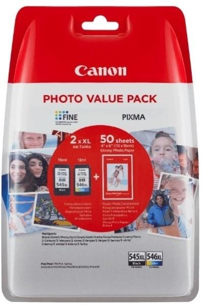Komplet kartuš Canon PG-545XL + CL-546XL, original + foto papir (8286B006AA)