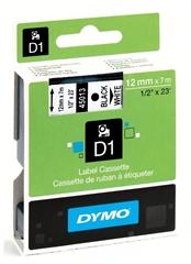 Trak Dymo D1 450130, 12 mm / 7 m (črna/bela), original