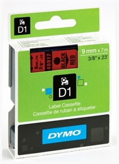 Trak Dymo D1 40917, 9 mm / 7 m (črna/rdeča), original