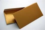 Kuverta amerikanka, barvna (zlata) 220 x 110 mm, brez okenca, 500 kosov