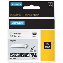 Trak Dymo Rhino Vinyl 18444, 12 mm / 5,5 m (črna/bela), original