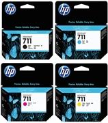Komplet kartuš HP nr.711 (BK/C/M/Y), original