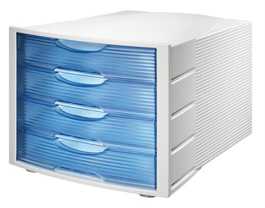 Predalnik Monitor, modra, prozorna