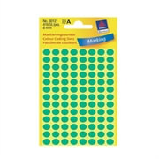 Etikete (označevalne točke) Zweckform 3012, premer 8 mm, zelene