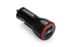 Polnilec za avto USB Anker PowerDrive, 2 vhoda, črna