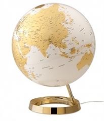 Globus Metal Gold, 30 cm, z lučko, angleški