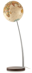 Globus Vertigo Antique, 37 cm, z lučko, angleški