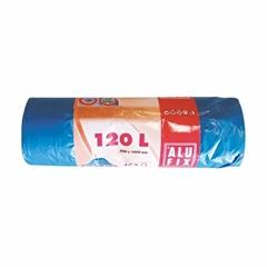 Plastične vreče za smeti, s trakom, modre, 120 l, 10 kosov