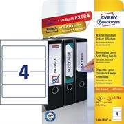 Odstranljive etikete za registratorje Zweckform L6061REV-20 59 x 192 mm, 30 listov, bela