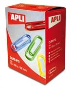 Sponke za papir Apli, barvne, 32 mm, 100 kosov