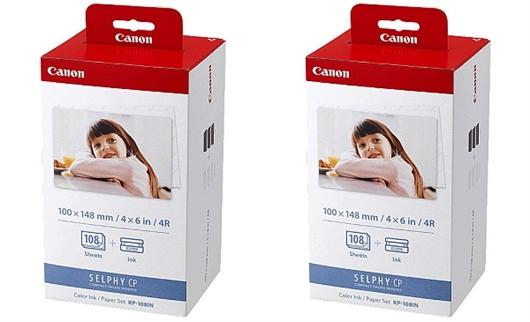 Kartuša + foto papir Canon KP-108IN, dvojno pakiranje, original