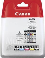 Komplet kartuš Canon PGI-580PGBK + CLI-581 (BK/C/M/Y), original