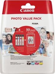 Komplet kartuš Canon CLI-581 (BK/C/M/Y), original + foto papir (2106C005AA)