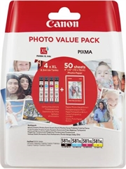 Komplet kartuš Canon CLI-581 XL (BK/C/M/Y), original + foto papir (2052C004AA)