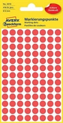 Etikete (označevalne točke) Zweckform 3010, premer 8 mm, rdeče
