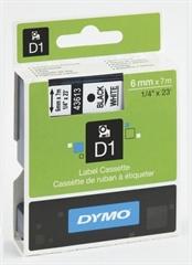 Trak Dymo D1 43613, 6 mm / 7 m (črna/bela), original