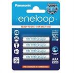 Polnilne baterije Panasonic Eneloop AAA HR03, 750 mAh, 4 kosi