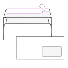 Kuverta amerikanka, 230 x 110 mm, z desnim okencem, 500 kosov, 90 g