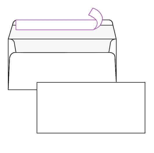 Kuverta amerikanka, 230 x 110 mm, brez okenca, 100 kosov