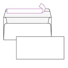 Kuverta amerikanka, 230 x 110 mm, brez okenca, 500 kosov, 90 g