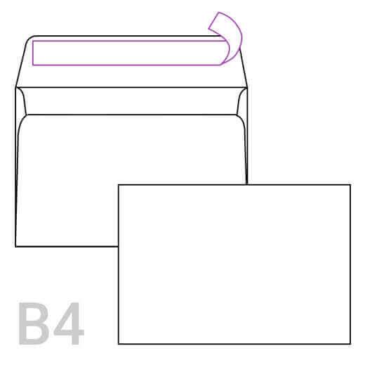 Kuverta B4, 353 x 250 mm, bela, 250 kosov