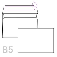 Kuverta B5, 250 x 176 mm, bela, 50 kosov