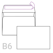 Kuverta B6, 125 x 176 mm, bela, 500 kosov