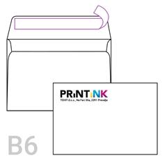 Kuverta B6, 125 x 176 mm, bela, 500 kosov, S TISKOM