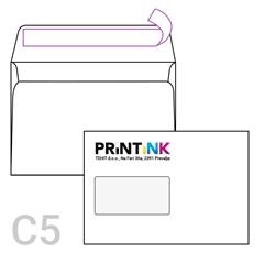 Kuverta C5 z levim okencem, 162 x 229 mm, bela, 500 kosov, S TISKOM