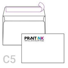 Kuverta C5, 162 x 229 mm, bela, 1.000 kosov, S TISKOM