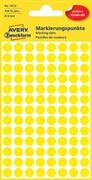 Etikete (označevalne točke) Zweckform 3013, premer 8 mm, rumene