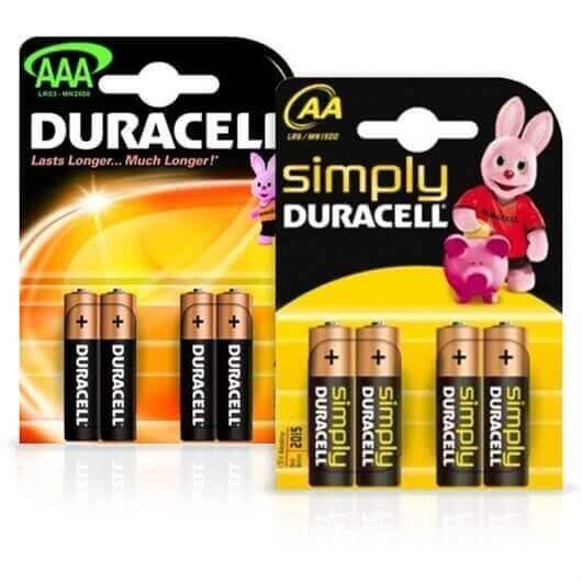 Komplet baterij Duracell AAA-LR03 + AA-LR6, 8 kosov